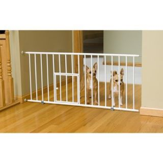 Carlson Pet Products Mini Gate with Pet Door   White