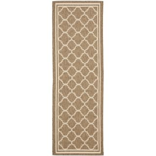Safavieh Indoor/ Outdoor Courtyard Brown/ Bone Rug (23 X 22)