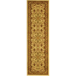 Lyndhurst Collection Ohsak Ivory/ Tan Rug (23 X 14)