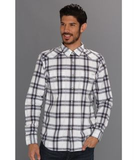 Lucky Brand Everett Plaid Dobby Western Mens Clothing (Neutral)