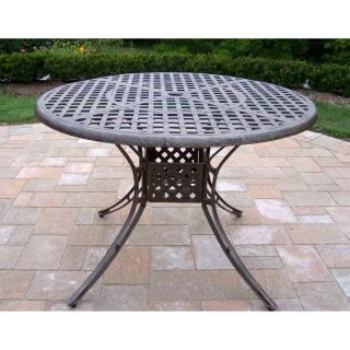 Oakland Living Elite Cast Aluminum 42 in. Patio Dining Table Multicolor   1102