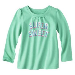 Circo Infant Toddler Girls Long sleeve Tee   Turquoise 4T