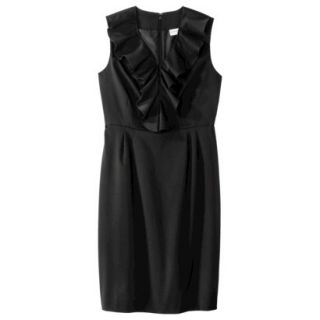 Merona Petites Sleeveless Sheath Dress   Black 10P