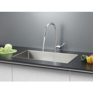 Ruvati RVC2322 Combo Stainless Steel Kitchen Sink and Chrome Faucet Set