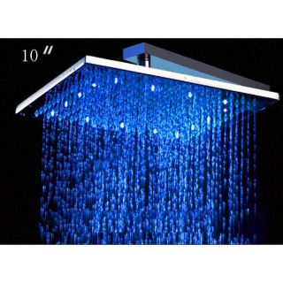 ALFI LED5005 10 Inch Square Multi Color LED Rain Shower Head Multicolor