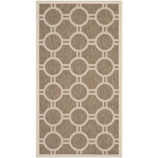 Safavieh Indoor/ Outdoor Courtyard Brown/ Bone Rug (27 X 5)