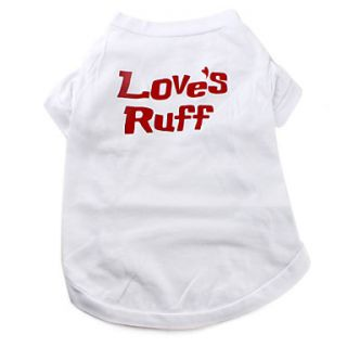 Loves Ruff plain Cotton Dog Shirt (XS M, White)