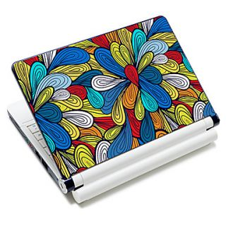 Colorful Flowers Pattern Laptop Notebook Cover Protective Skin Sticker For 10/15 Laptop 18360