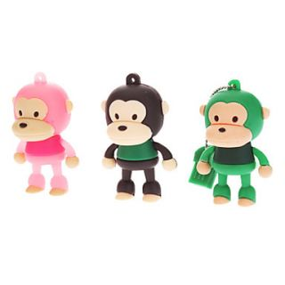 2GB Cute Rubber Monkey USB Flash Drive