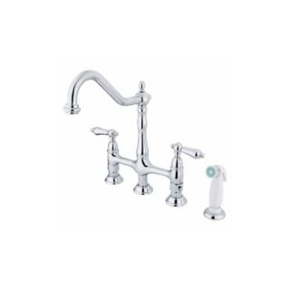 Elements of Design ES1271AL New Orleans Two Handle Kitchen Faucet With Spray