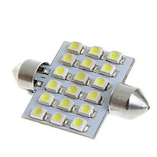 39mm 18 1210 SMD LED White Car Interior Dome Festoon Light Lamp Bulb