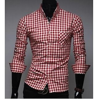 ZHELIN Mens Fashion Shirt Collar Check Buckle Random Color Of The Accessories Shirt