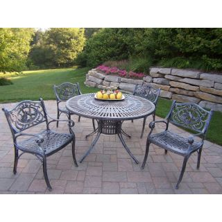 Oakland Living Sunray Cast Aluminum 48 in. Hummingbird Patio Dining Set   Seats
