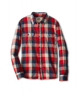 Vans Kids Alameda L/S Shirt Boys Long Sleeve Button Up (Red)