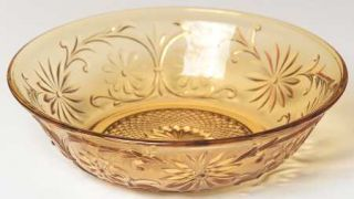 Indiana Glass Daisy Amber Cereal Bowl   Amber, Glassware 40S 60S