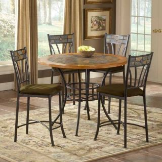Bernards Inc Red Rock Stone Top Pub Table Multicolor   BDI551