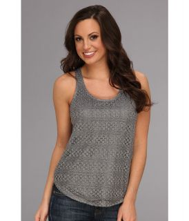 Lucky Brand Florence Lace Tank Womens Sleeveless (Gray)