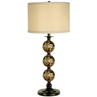 Dale Tiffany Mosaic 3 Ball Art Glass Table Lamp