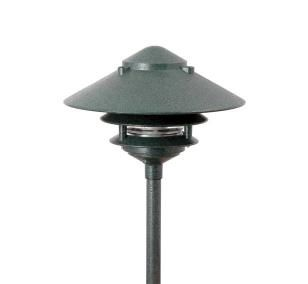 Focus Lighting AL03ATV 12V 18W 6 Pagoda Hat Path Light Antique Verde