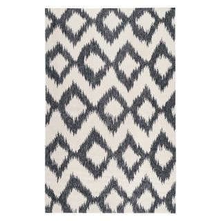 Surya FT Flat Weave Contemporary Area Rug Ink / Winter White   FT175 3656, 3.5