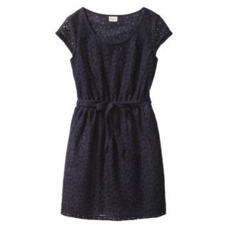 Merona Womens Lace Sheath Dress   Xavier Navy   L