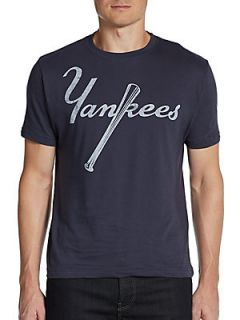 Vintage Inspired Yankees T Shirt   Navy