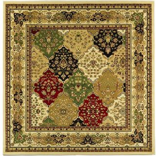 Lyndhurst Collection Multicolor/ Ivory Rug (8 Square)