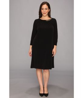 Tahari by ASL Plus Size Sally Dress Womens Dress (Black)