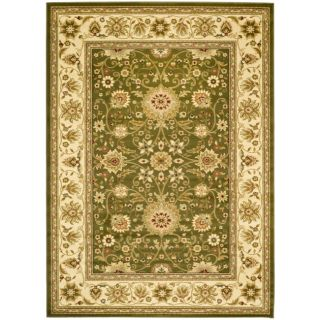 Lyndhurst Collection Majestic Sage/ Ivory Rug (4 X 6)