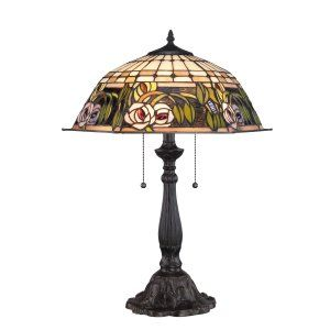 Quoizel TF1600TIB Tiffany Tea Rose Tiffany Table Lamp