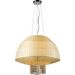 PLC Lighting PLC 73082 BEIGE Tourou 3 Light Pendant Tourou Collection