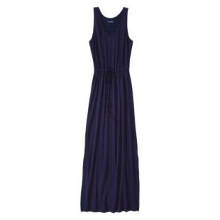 Merona Petites Sleeveless Maxi Dress   Navy XL