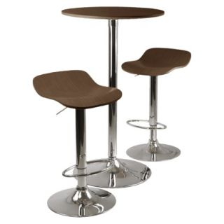 Bar Height Table Set Kallie Pub Table with 2 Adjustable Stools