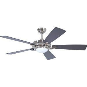Ellington Fans ELF ORV56BNK5 Orvus 56 Ceiling Fan with Integrated Light Kit, Bl