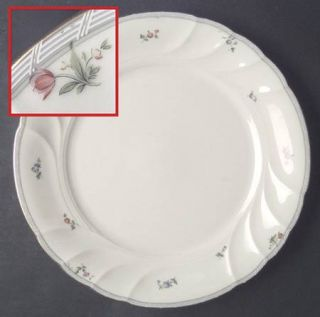 Mikasa Petit Fleur Dinner Plate, Fine China Dinnerware   Floral Border       Ivo
