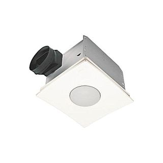 Nutone QTXEN110FLT Bathroom Fan, 110 CFM Ultra Silent Series w/ Light, Energy Star Rated for 6 Duct