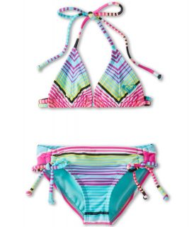 Roxy Kids Tropical Stripe Tiki Tri Set Girls Swimwear Sets (Multi)