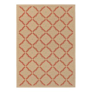 Couristan 3077 0011 Five Seasons Cream Indoor/Outdoor Rug Multicolor