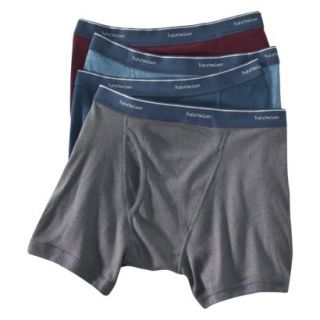 Fruit of the Loom Mens Low Rise Boxer Briefs 4 Pack   Assorted Colors L