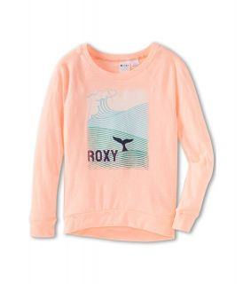 Roxy Kids Fluffy Sea ND Raglan Tee Girls Long Sleeve Pullover (Orange)