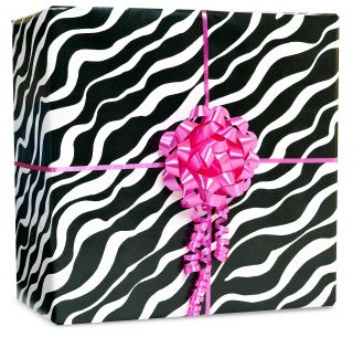Black Zebra Gift Wrap Kit