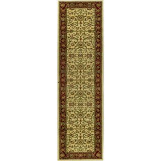 Lyndhurst Collection Majestic Ivory/ Red Runner (23 X 12)