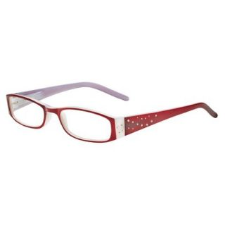 ICU Crystal Rectangle Rhinestone Reading Glasses With Sparkle Case   +2.25